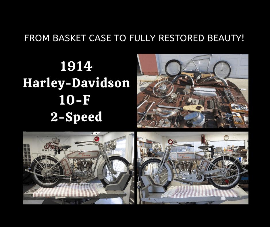 1914 Harley Davidson 10F Motorcycle – Basket Case — NOW COMPLETED!