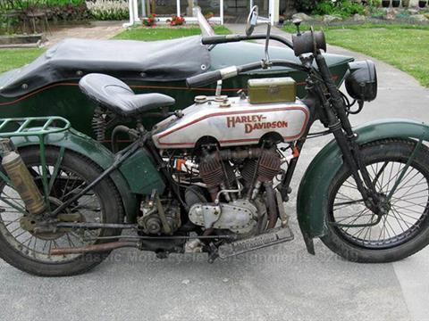 1920 Harley Davidson Model F – Left-Hand Sidecar & Frame – 8.68 HP, 3-Speed