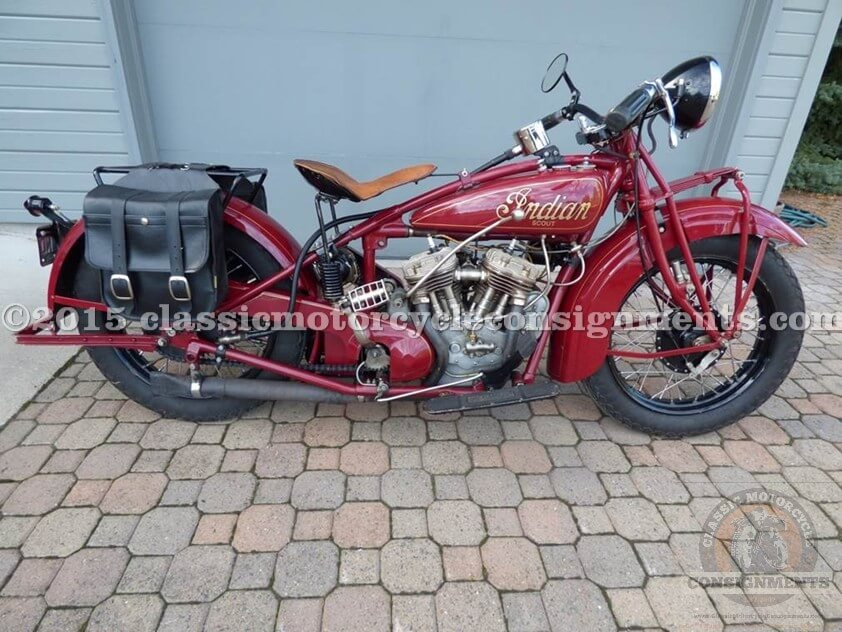 1930 Indian 101 Scout Motorcycle – Naive Col