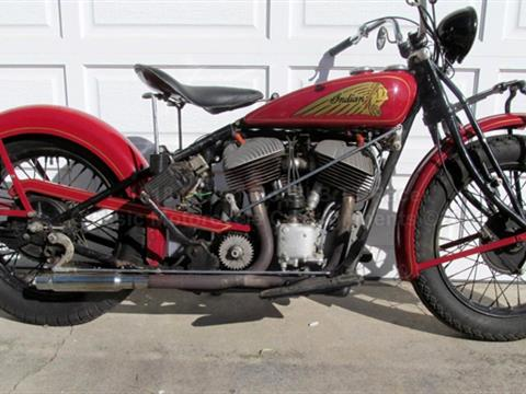 1930 Indian Chout – 1930 101 Frame with a 1945 Chief Engine — SOLD!