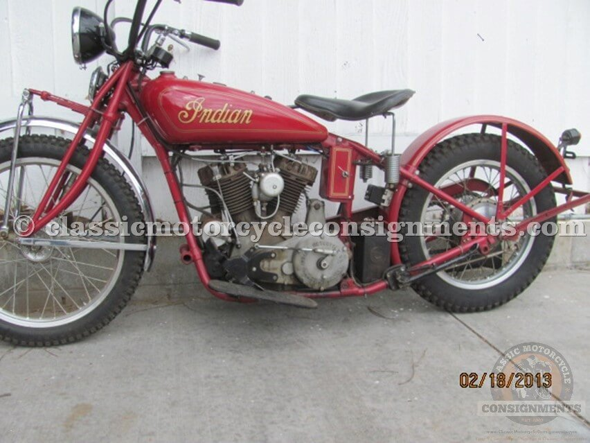 1931 Indian Chief Motorcycle Used Old Restoration
