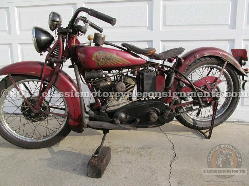 1937 Indian Jr. Scout Motorcycle