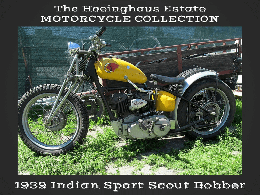 1939 Indian Sport Scout Bobber — Hoeinghaus Col