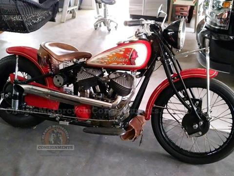 "1940 Indian Chief ""Crazy Horse"" Bobber — SOLD!!"
