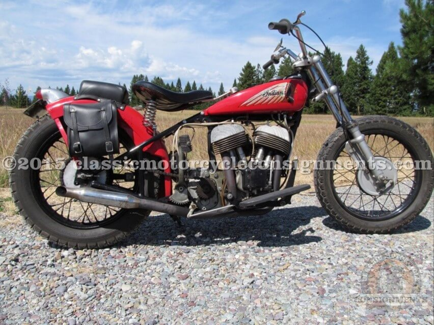 1941 Indian 640 Scout Bobber Motorcycle