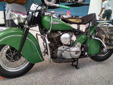 1948 Indian Chief Bonneville – Prairie Green — SOLD!