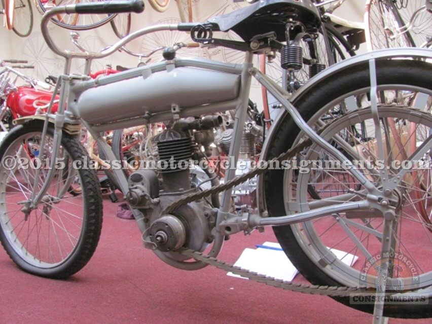 1911 POPE Motorcycle Model H Rolling Basket