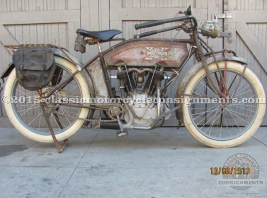 1914 Excelsior Twin Cylinder -Two-Speed – Model TS Vintage Motorcycle