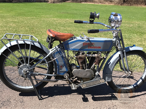 1914 Harley Davidson Twin Motorcycle Model 10-F