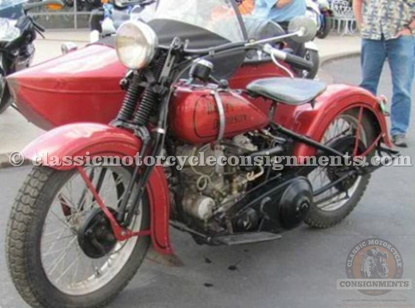 1934 Harley-Davidson VL Geiring Sidecar