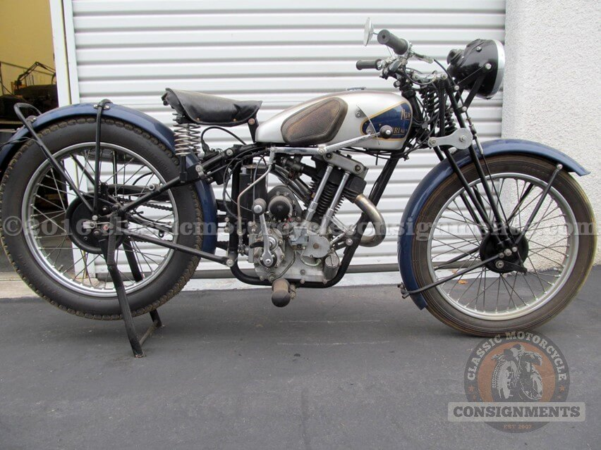 1936 New Imperial 250 cc Motorcycle Colver Col