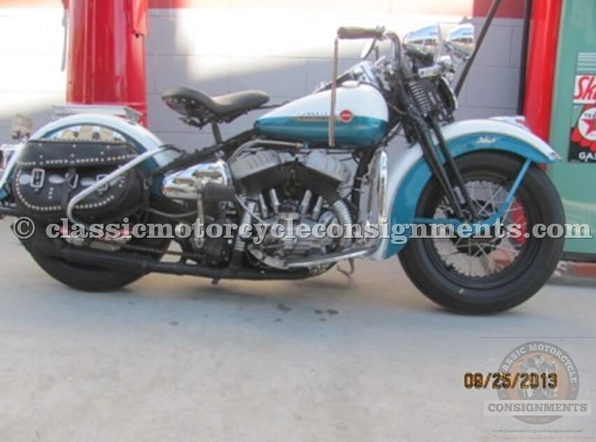 1948 Harley Davidson WL Motorcycle Used Restored