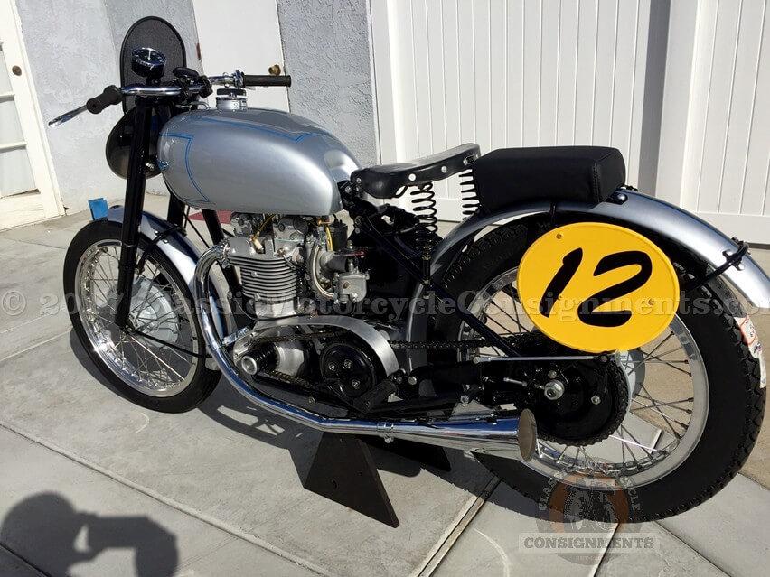 S-133 1949 Triumph T-100 'Square Barrel' G.P. 500cc Motorcycle