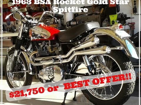 1963 BSA Rocket Gold Star Spitfire/Gold Star Spitfire – SOLD!!