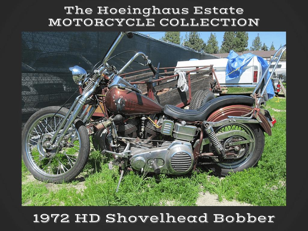 1972 Harley Davidson Shovehead Bobber — Hoeinghaus Col — SOLD!