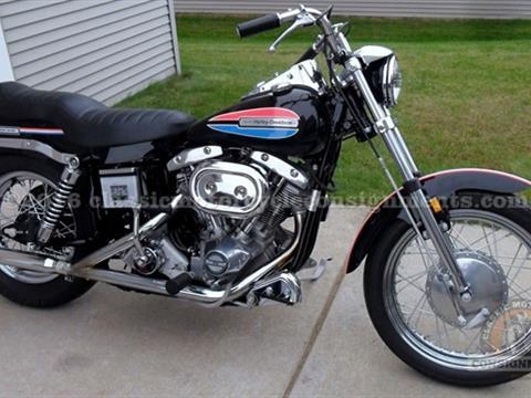 1972 Harley Davidson FX Super Glide Motorcycle Boat Tail