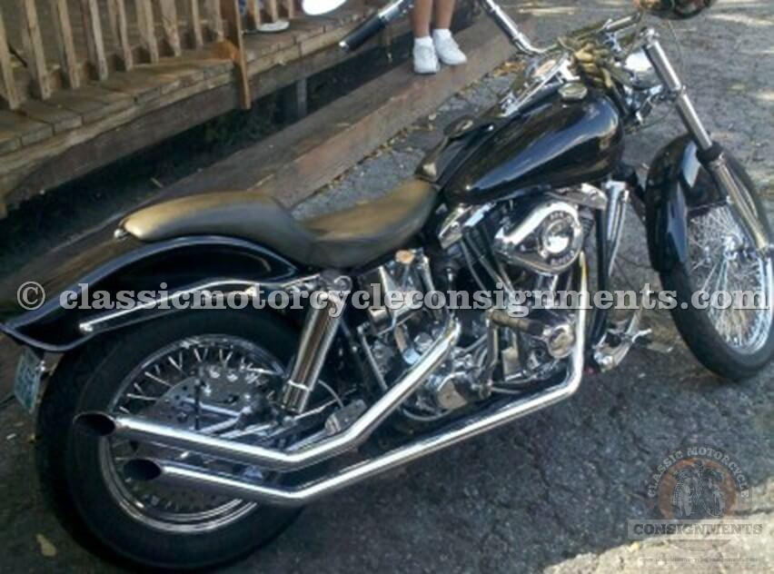 1977 Harley Davidson FXE Motorcycle Bobber Used