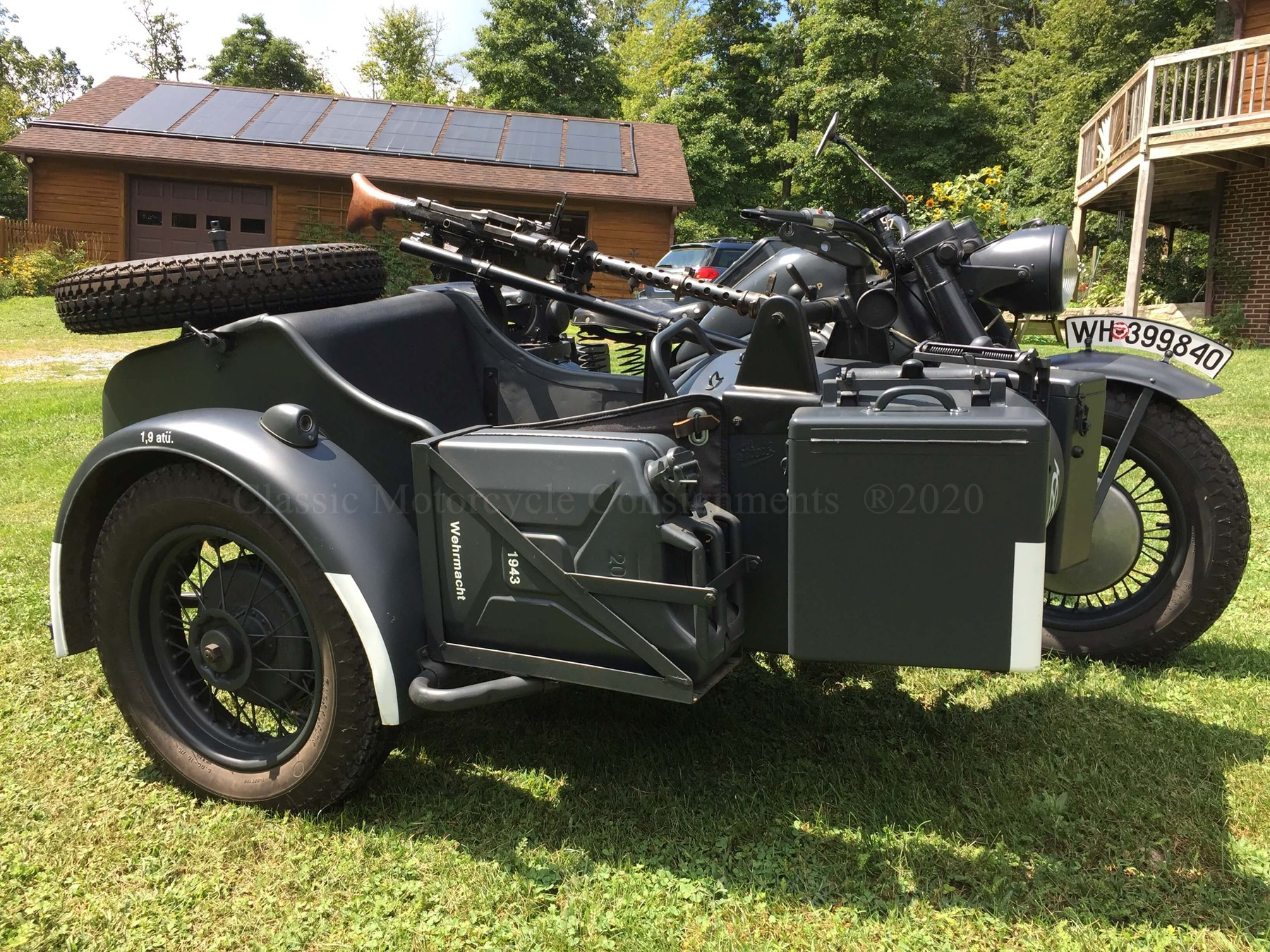 1943 Zundapp KS750 WW II Military Motorcycle