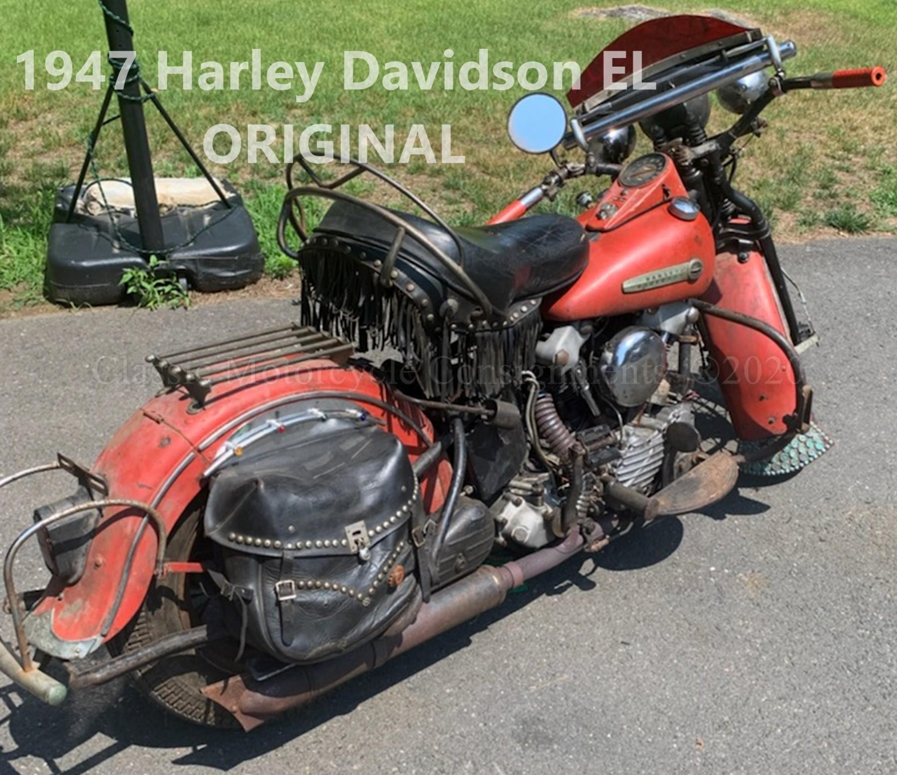1947 Harley Davidson EL Knucklehead — ORIGINAL
