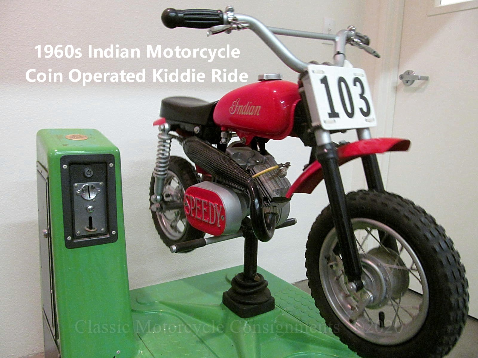1960s-70s Indian Motorcycle Kiddie Ride