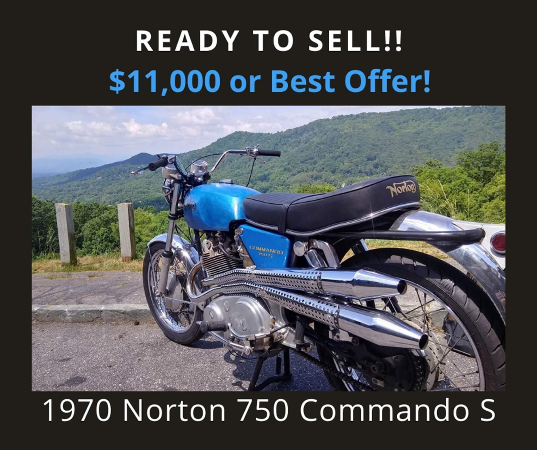 1970 Norton 750 Commando S Motorcycle —  SOLD!!