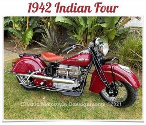 1942 Indian Four - Beautiful Rebuild and Restoration