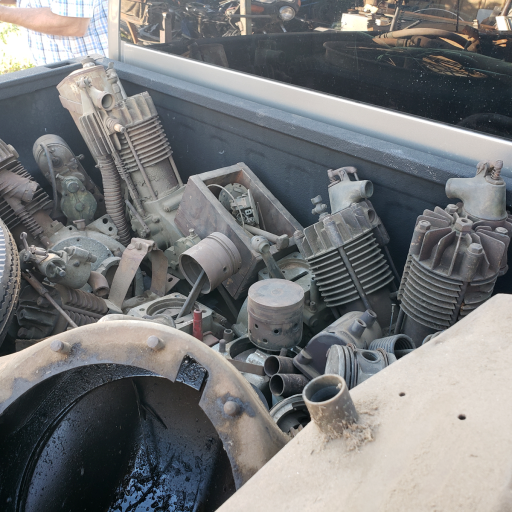 Out rescuing some junk motorcycle parts for a friend…lots of weight for the scrapper!